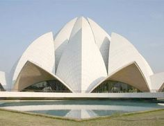 World Architecture Community News - Lotus Temple: A Symbol Of Excellence In Modern Indian Architecture Modern Architecture Design, Indian Architecture, Modern House Design, Temple Architecture, Amazing Architecture, Hindus, Principals Of Design, Lotus Temple, India Design