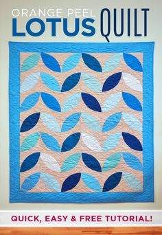 Quick and Easy Large Orange Peel Lotus Quilt with Jenny Doan! FREE Appliqué Quilting Tutorial!