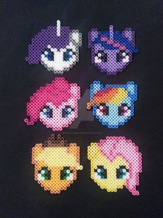 My Little Pony Perler Bead Ornaments by AshMoonDesigns on DeviantArt