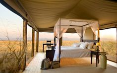 Extraordinary safari hotel room at the Wolwedans Dunes Lodge in Namibia, Africa. Open air for a romantic destination honeymoon with your own ultra luxury safari tent on the African plains. Camping Glamping, Luxury Camping, Camping Trailers, Glam Camping, Camping Stove, Camping Swag, Outdoor Camping, Luxury Travel, Kenia Hotel