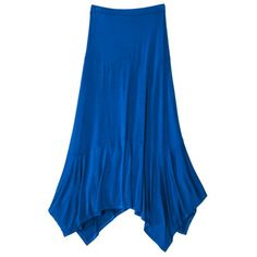 Mossimo Supply Co. Juniors Handkerchief Maxi Skirt - Assorted Colors ~ LOVE the skirt
