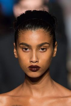 dark brown, gloss, makeup inspiration, runway details, fashion, style