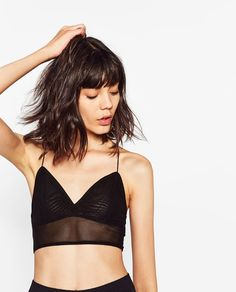 Image 2 of TULLE BRA TOP from Zara
