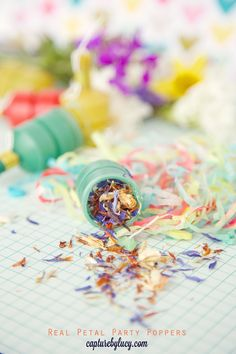 DIY Petal Confetti Party Poppers by @Lucy Heath @ Capture by Lucy