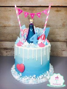 Frozen Disney Elsa Drip Cake
