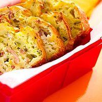 Cake courgettes chèvre lardons