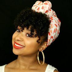 Natural Hairstyle With A Bandana