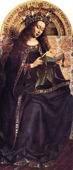 The Ghent Altarpiece, The Virgin Mary via Jan van Eyck