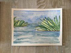 Sylvester Manor Shelter Island NY Original ARTWORK Watercolor Painting - Plein Air