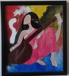 Saraswati #painting for home decoration at #craftshopsindia