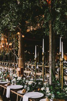 romantic wedding with metallic details - photo by Lara Hotz Photography http://ruffledblog.com/botanical-australian-barn-wedding