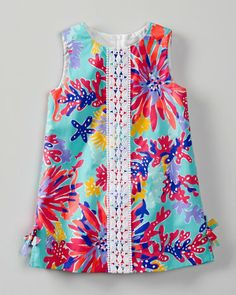 Aqua Starburst Little Lilly Shift Dress by Lilly Pulitzer® - Baby Girls & Girls