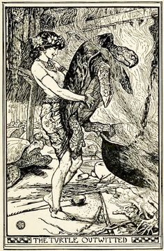 The Turtle and his Bride - The Brown Fairy Book by Andrew Lang, 1904