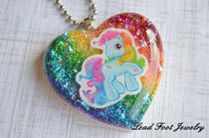 Ranbow Dash Inspired Resin Pendant by LeadFootJewelry on Etsy