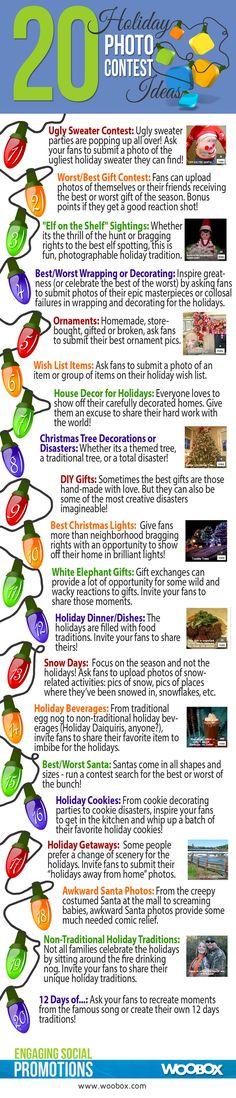 Holiday PhotoContest Infographic www.socialmediamamma.com