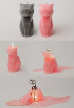 Cat Candle with a skeleton. Kind of cool, kind of creepy. (Cool Diy Inventions) Home Decor Accessories, Decorative Accessories, Cat Candle, Hipster Grunge, Take My Money, Cool Inventions, Crazy Cat Lady, Cool Gifts, Geek Stuff