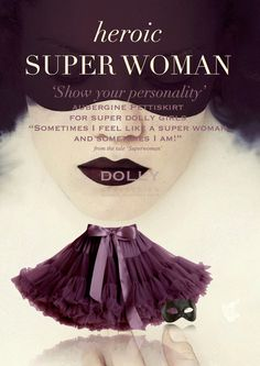 DOLLY by Le Petit Tom ® SUPER WOMAN pettiskirt aubergine