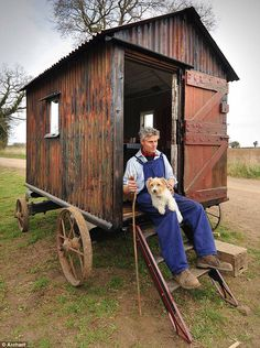Restoration:1. A shepherd's hut on the brink of rotting away has been given a new lease of life and restored to its former glory. Craftsman Richard King spent 12 painstaking months refurbishing the weather-beaten shed which is 113 years old, in Suffield, Norfolk. But its new owners wanted the hut to remain authentic and reflect a bygone age of farming rather than restored to pristine condition.