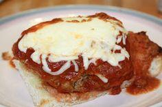 Hot Dago Sandwich- ground beef, ground hot sausage, garlic bread,  lots of cheese and gravy....yum