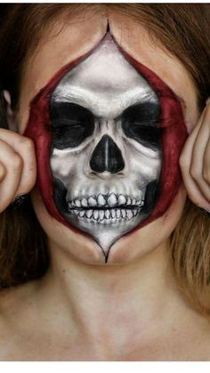 This looks cool and creepy all at once. Good painting idea