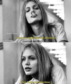 Throwback Thursday: Bad Ass Women All Around The World. Angelina Jolie in Girl, Interrupted. Citations Film, Bon Film, Photo Vintage, Movie Characters, Brad Pitt, Girl Crushes, Good Movies, Actors & Actresses, Movie Tv