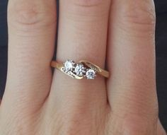 Twisted Ring Trilogy Diamond Engagement Ring Diamond by ArahJames – Jewels – Elegant Engagement Rings Couple, Elegant Engagement Rings, Diamond Engagement Rings, Diamond Rings, Jewelry Design Earrings, Gold Earrings Designs, Couple Ring Design, Gold Finger Rings, Gold Ring Designs