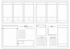 Image result for Blank Bullet Journal Templates