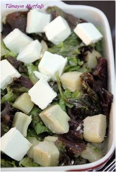 Peynirli Enginar Salatası