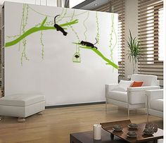Wall Art Decor Removable Mural PVC Decal Sticker Large Branches with Cats 7114 | eBay