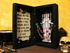 Hekate Mini Traveling Shrine Box by TheMadPlaquer on Etsy, $15.00