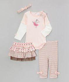 Loving this Pink Ballerina Layered Bodysuit Set - Infant on #zulily! #zulilyfinds