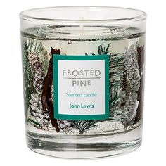 John Lewis Frosted Pine Medium Gel Candle