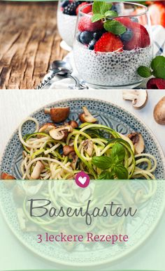 Base fasting: 3 delicious recipes with basic foods-Basenfasten: 3 leckere Rezepte mit basischen Lebensmitteln Base fasting: With these delicious recipes, the cure is no longer a problem. Heart Healthy Recipes, Healthy Snacks, Lunch Recipes, Smoothie Recipes, Protein Smoothies, Menu Dieta, Nutrition, Le Diner, Eating Plans