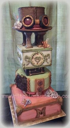 beautiful steampunk cake