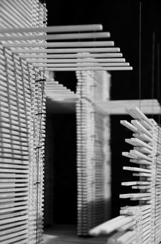 Peter Zumthor Swiss Pavilion Structural Model by Garrett Knoll, via Behance