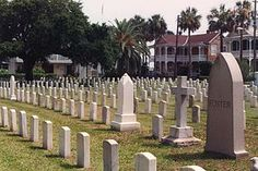 """St. Augustine National Cemetery.  """"The first interment took place in the area of the cemetery in 1828 it was then used as the post cemetery for the St. Francis Barracks. The first burials were soldiers stationed at St. Francis Barracks and veterans of the Indian Wars, including many that were transferred from burial grounds in what was then Seminole controlled territory.  [After the] Civil War, the cemetery was expanded and improved, and in 1881 it became a National Cemetery."""""""