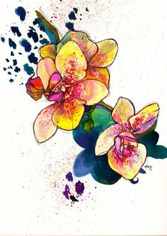 Inky Florals by Marcella Wylie, via Behance