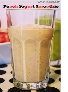 Get your daily probiotics with this Peach Yoghurt Smoothie recipe.