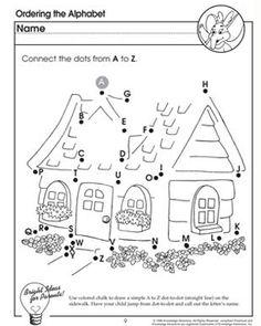 ABC Dot-to-Dot - Printable Alphabet Worksheet for Kids   ABC work ...