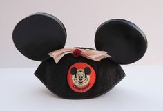 Vintage late 1950s - 1960s Disney Mickey Mouse Ears with Bow    https://www.etsy.com/listing/120189115/disney-mickey-mouse-ears-with-bow