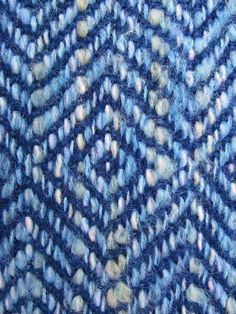 Handwoven Diamond Twill Blue Mohair Blend Scarf by VermontHomespun
