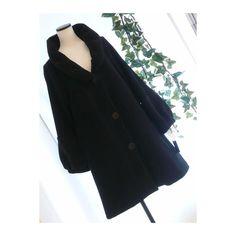 メルカリ商品: 【新品】0534【L】上品ふんわり襟袖 上質ポンチ地コート 黒 #メルカリ