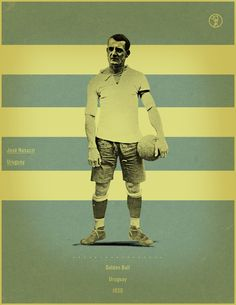 Retro-Style Poster Series of the World Cup Golden Ball Winners