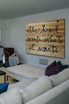 The Heart Wants Brown Distressed Wood Wall Art by Marmont Hill Inc. on @HauteLook