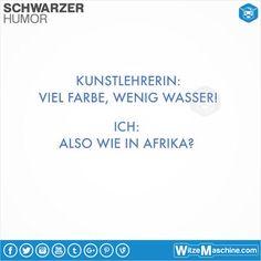 Schwarzer Humor Witze Sprüche #89 - Viel Wasser, wenig Farbe - Afrika