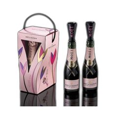 Moet & Chandon Rose Imperial Mini 200 ml Pack 2 + Flute. The Imperial Rosé Champagne becomes an absolute extraordinary power of seduction. Type of grapes: Pinot Noir, Pinot Meunier and Chardonnay