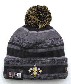21ef7ee37bd New Orleans Saints NWT Pom Knit NFL Winter Hat by New Era Geaux Saints