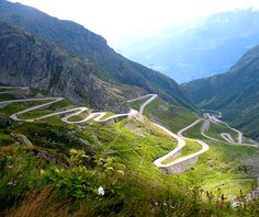 Romania's Carpathian Mountains, the Transfăgărăşan Highway is a 55-mile stretch of roadway...scenic and wickedly winding