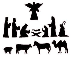 7 Best Images of Printable Christmas Silhouette Patterns - Christmas Nativity Silhouettes, Nativity Scene Silhouette Pattern-Free and Nativity Silhouettes Christmas Nativity Set, Christmas Art, Christmas Projects, Holiday Crafts, Christmas Holidays, Christmas Decorations, Christmas Ornaments, Christmas Bells, Felt Ornaments
