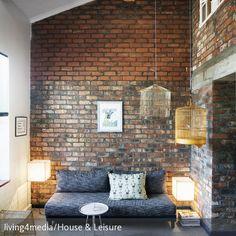 fototapete backstein rot stadt kt240 größe: 420x270cm tapete stein, Wohnzimmer